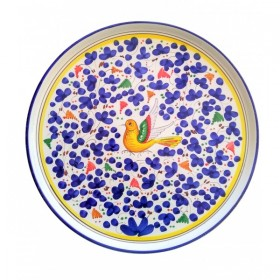 Piatto pizza Arabesco blu