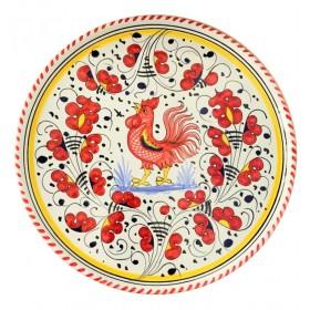 Piatto pizza Gallo rosso
