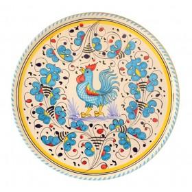 Piatto pizza Gallo azzurro