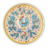 Pizza plate light blue Rooster