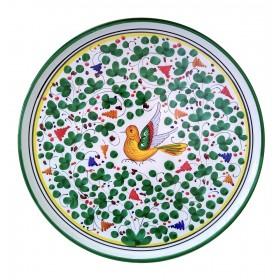 Pizza plate green Arabesco