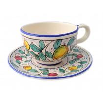 Piatto e tazza da cappuccino