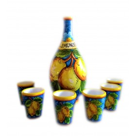 Limoncello set-Light blue lemons