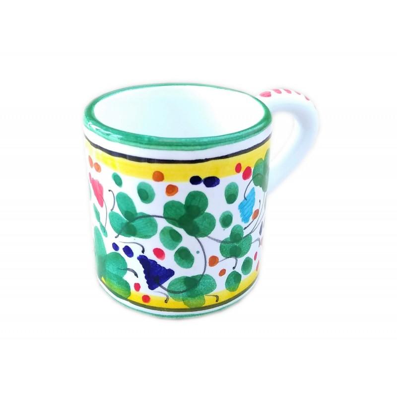 Espresso cup Arabesco green