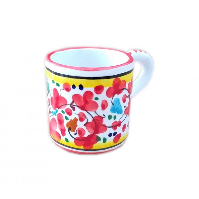 Espresso cup Arabesco red