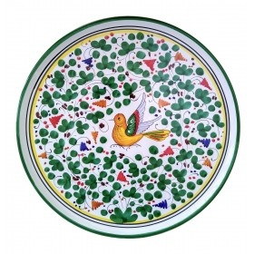 Pizza plate green Arabesco