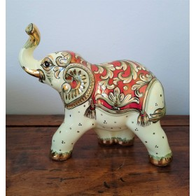 Elephant with gold and ruby