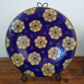 Ceramic plate 500 blue