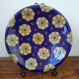 Ceramic fruit pot 500 blue