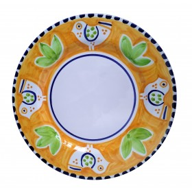 Ceramic plate Bird Positano