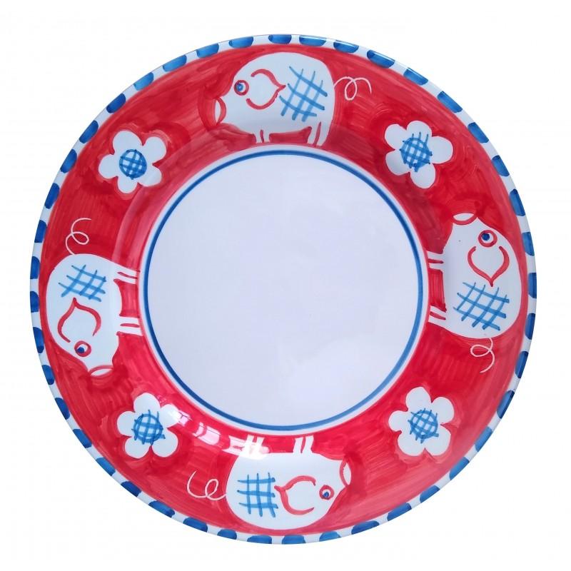 Ceramic plate Pig Positano