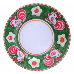 Ceramic plate Rooster Positano