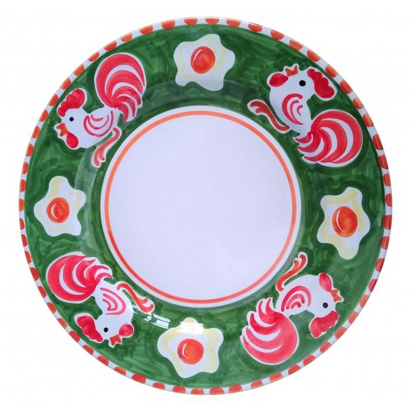 Ceramic plate Rooster Positano