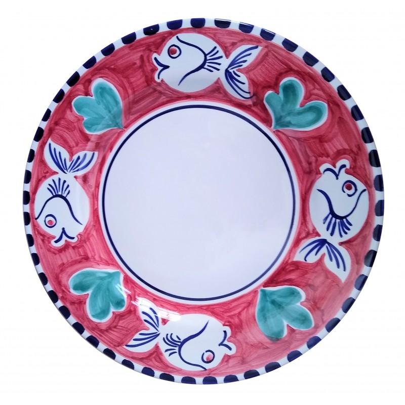 Ceramic plate Fish Positano