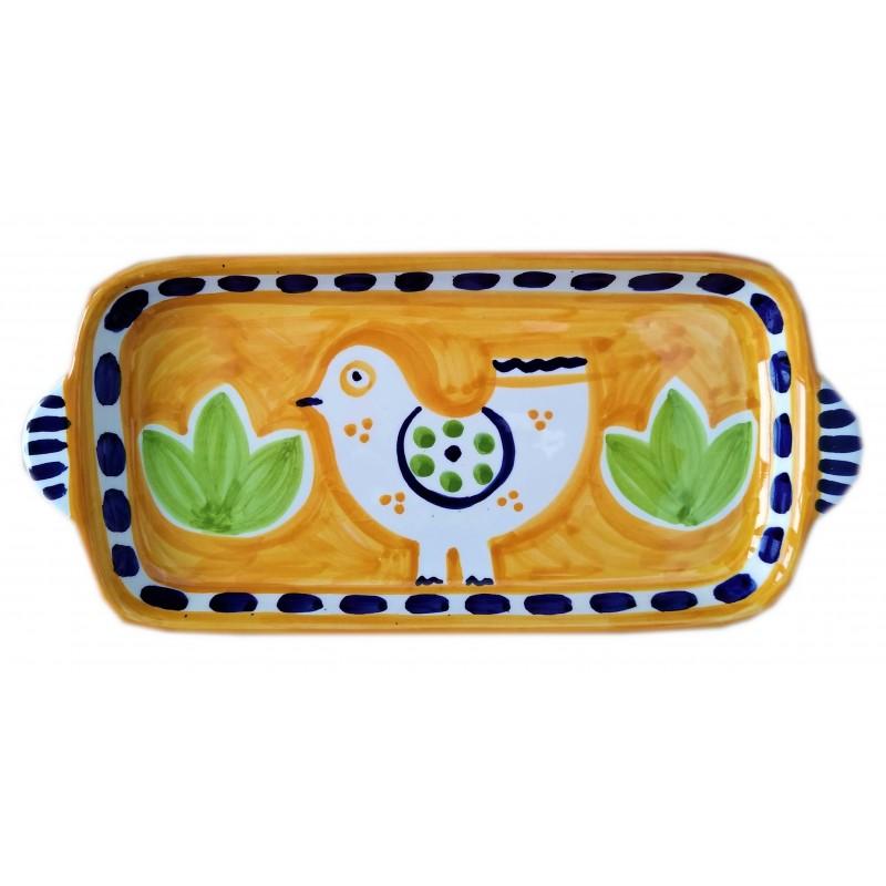 Ceramic tray Bird Positano