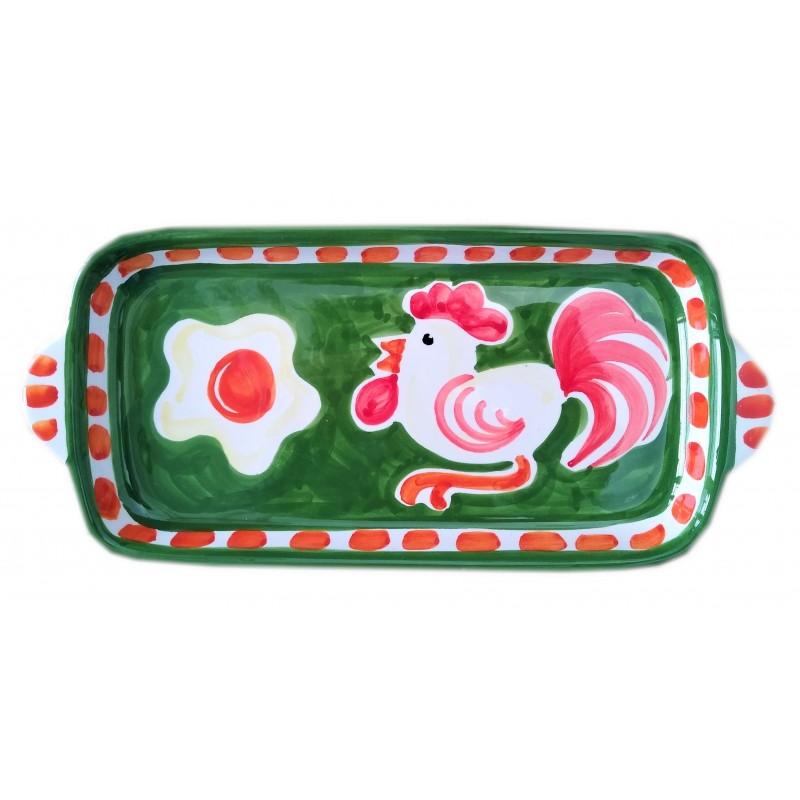 Ceramic tray Rooster Positano