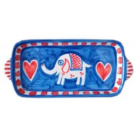 Ceramic tray Elephant Positano