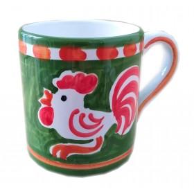 Ceramic mug Rooster Positano