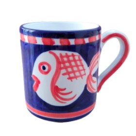CERAMIC MUG FISH POSITANO