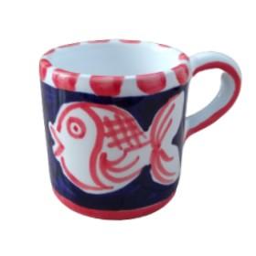 Ceramic espresso cup Fish