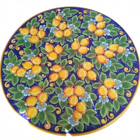 Table top with blue lemons