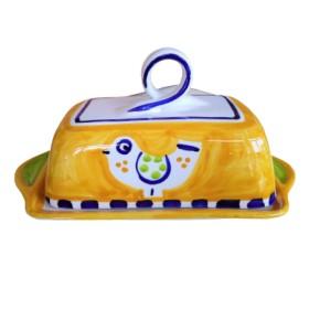 Butter dish Positano bird