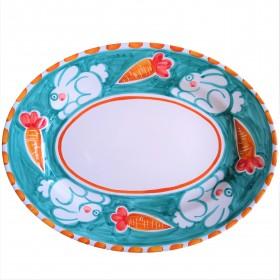Oval platter Positano rabbit