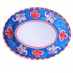 Oval platter Positano elephant