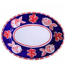 Oval platter Positano fish