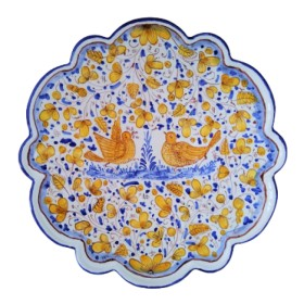 Ceramic flower plate Arabesco