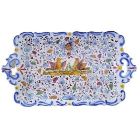 Ceramic barocco tray ancient Arabesco