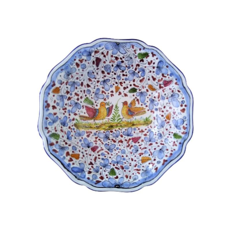 Ceramic bowl Arabesco light blue