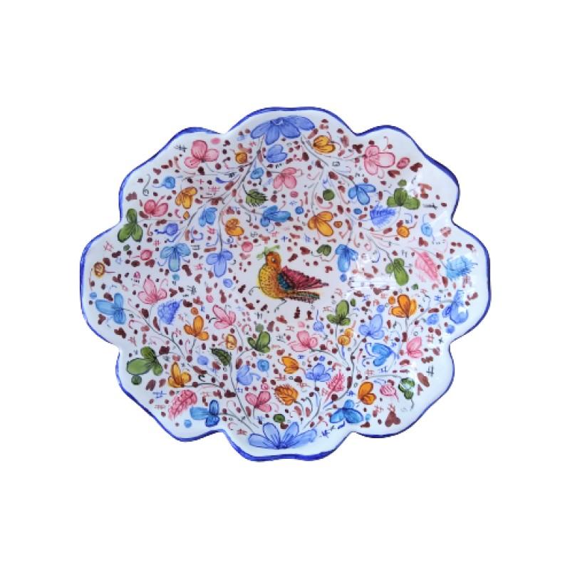 Ceramic flower bowl Arabesco