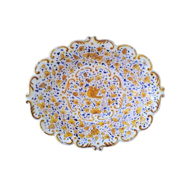 Ceramic oval bowl Arabesco