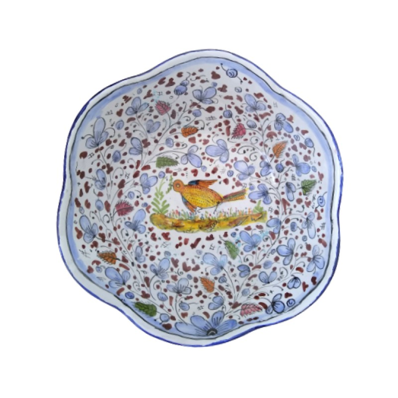 Ceramic scalopped bowl Arabesco