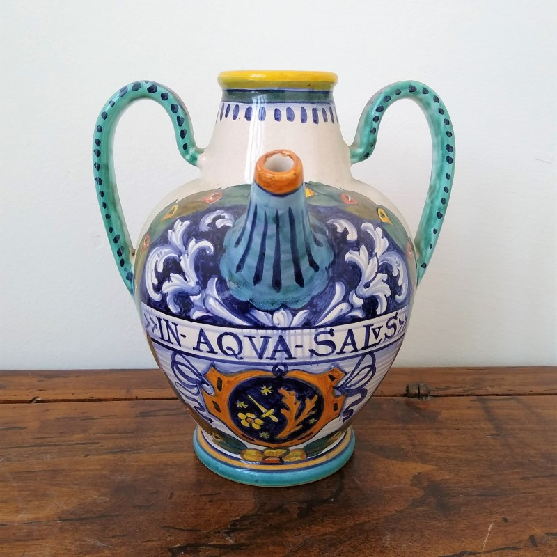 Ceramic vase with two handles