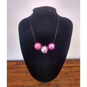 Ceramic necklace purple