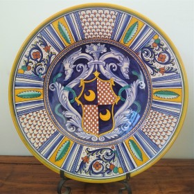 Ceramic plate with dragons